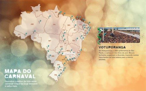 Mapa do Carnaval